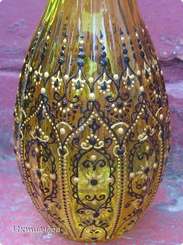 Jarrones de cristal decorados con pintura 3d adornos - Jarrones de cristal decorados ...