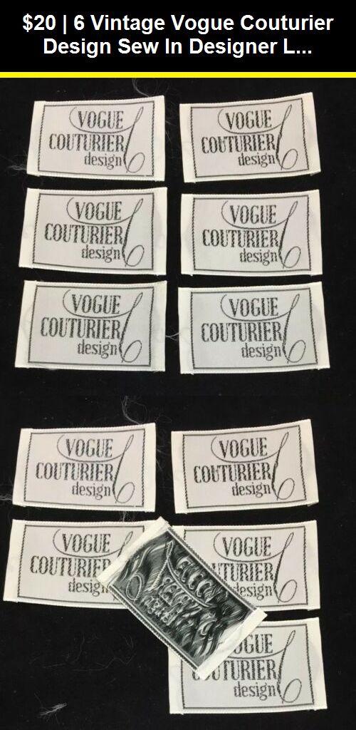 Clothing Labels 183271 6 Vintage Vogue Couturier Design Sew In Designer Label Tag White 2x1 5 New Nos Buy It Now Only Vintage Vogue Clothing Labels Labels
