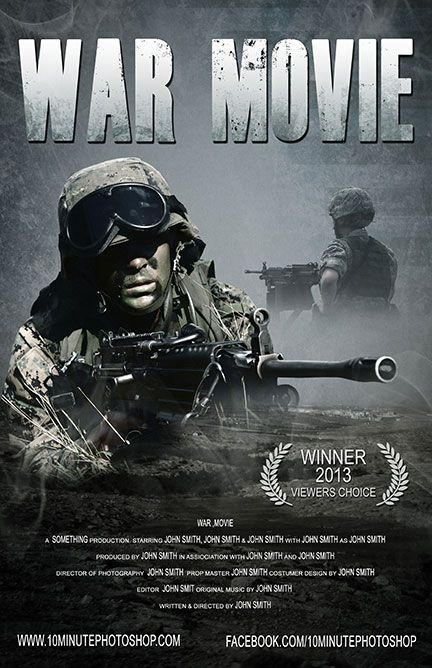 War movie poster template psd krigsfilmer jeg ikke har sett pinterest products movies and war for Movie poster template psd