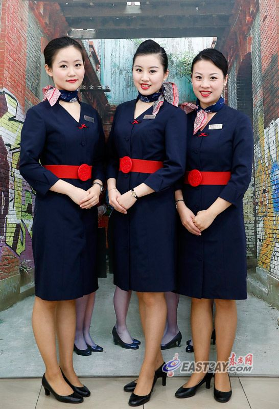 China Eastern Airlines Cabin crew   Beautiful: Flight