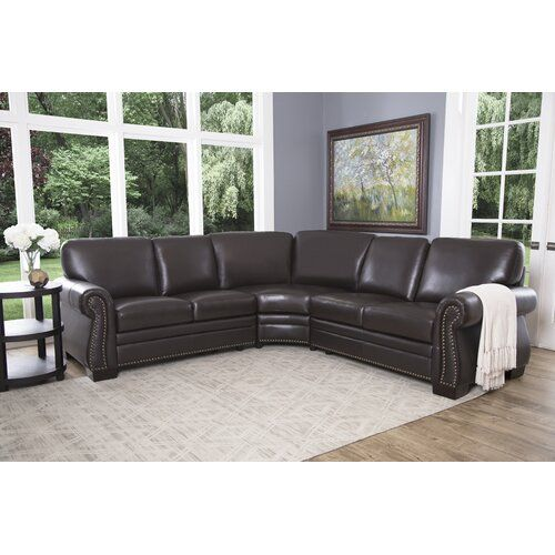 Darby Home Co Lowell Chaise Lounge Reviews Wayfair In 2021 Top Grain Leather Sectional Leather Sectional Sofas Leather Sectional