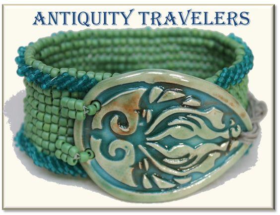 Viking Inspired Beaded Bracelet Cuff
