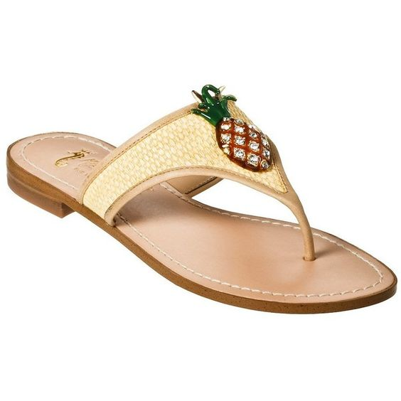 Wearing mine out this Spring!    Women's Miss Trish for Target® Pineapple Flat Sandals - Natural : Target found on Polyvore