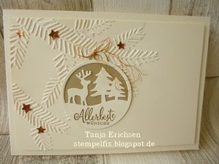 stampin up allerbeste w nsche embossing weihnachten. Black Bedroom Furniture Sets. Home Design Ideas