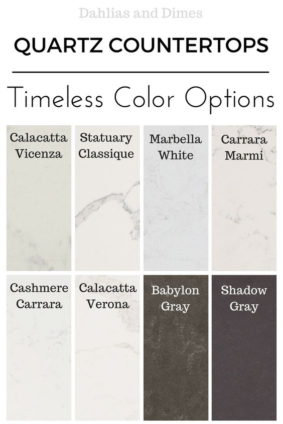 Choosing Quartz Countertops: A Review and Options - Dahlias and Dimes