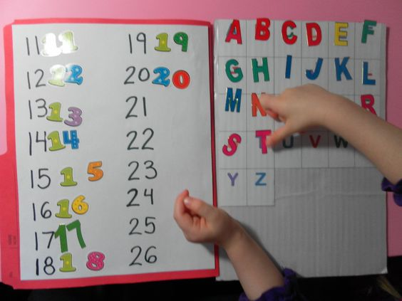 I am going to make a magnetic tray with my magnetic numbers for matching.