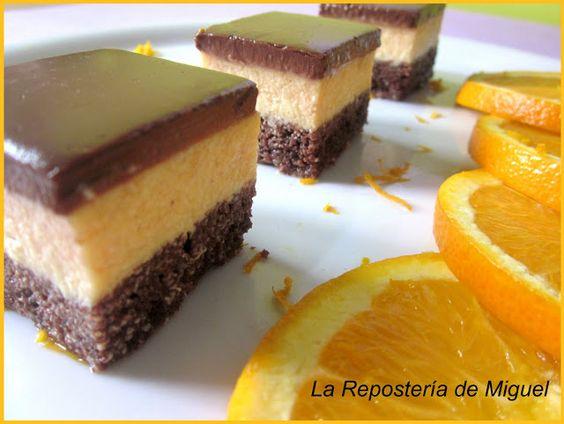 Cuadrados de Naranja y Chocolate
