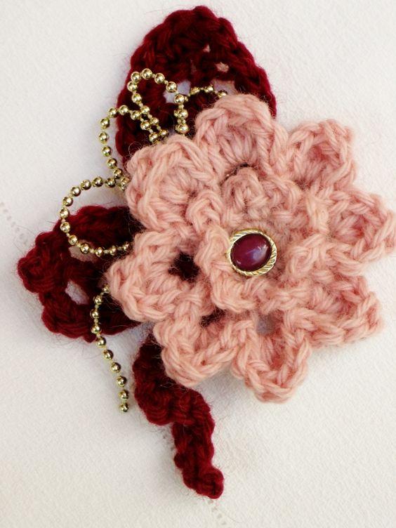 Flores tejidas al crochet - Prendedores - Accesorios - 513727