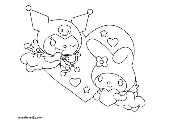 Kuromi Coloring Pages