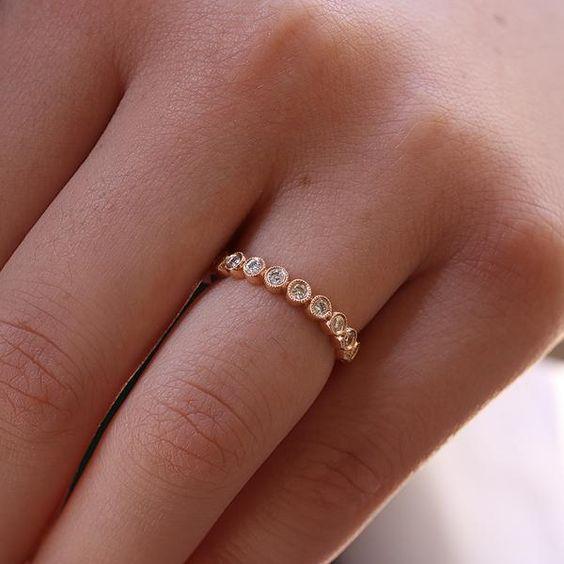 14K Rose Gold Vintage The Bellisima Diamond Wedding Ring   Princess Bride Diamonds