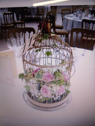 SHABBY CHIC LARGE X 10 DECORATIVE GOLD BIRD CAGES HOME / WEDDING CENTREPIECE | eBay