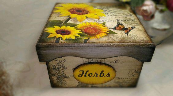"""Купить Короб-шкатулка «Подсолнух"""" - короб для хранения, подарок на любой случай, подарок девушке"""