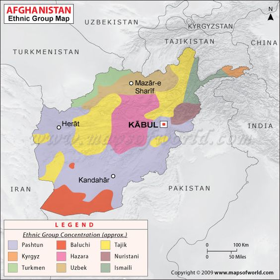 Afghan Ethnic Map 91