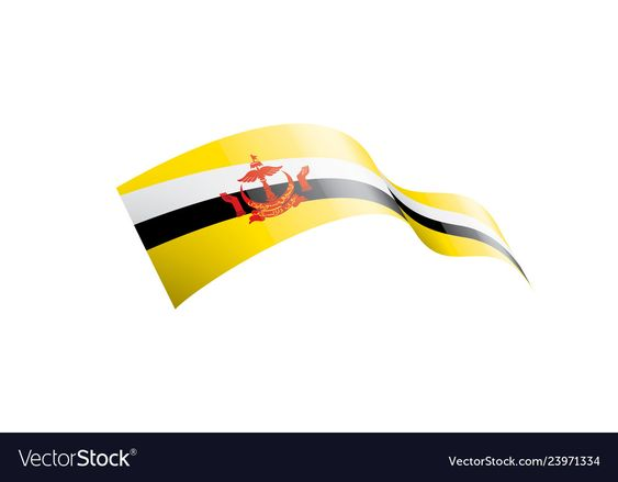 Brunei Flag On A White Royalty Free Vector Image Sponsored White Flag Brunei Royalty Ad Vector Free Brunei Flag Free Vector Images