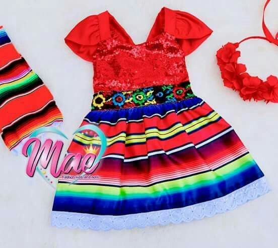 Sencillos Vestidos Mexicanos Para Niñas