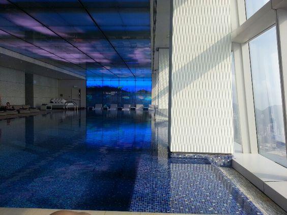 Ritz Carlton Hotel indoor pool at 118F