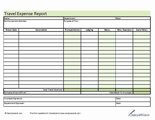 Travel Reimbursement Form Template In 2020 Templates How To