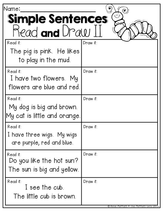 Kindergarten Drawing Printable Worksheets