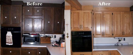 Simple Reface Kitchen Cabinets Before And After - pictures, photos, images