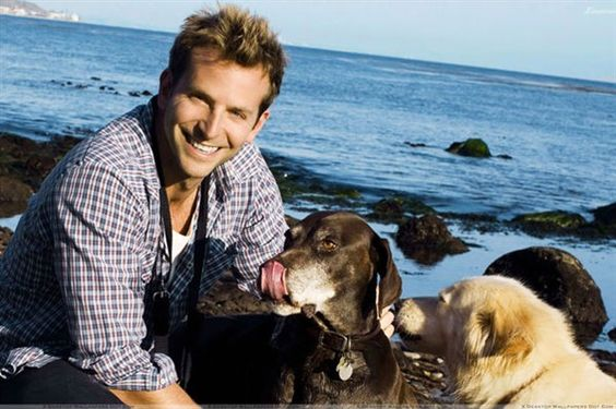 Bradley Cooper with Charlotte and Samson.