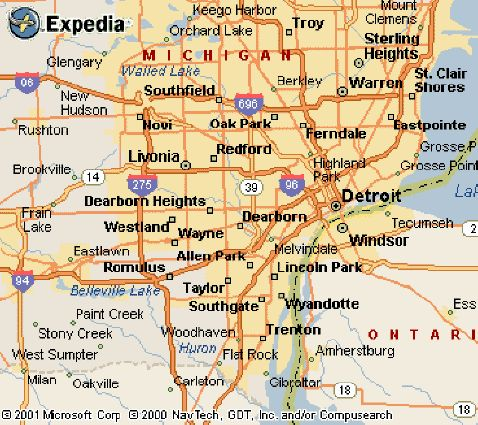 Nice Detroit Metro Map Travelquaz Pinterest Nice