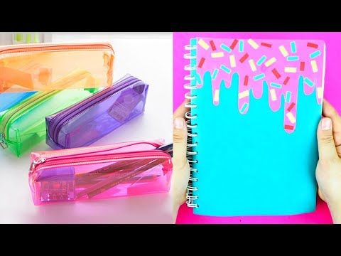 8 Easy Diy School Supplies Cheap Diy Crafts For Back To School With Diy Lover Youtube In 2020 School Diy Cheap Diy Crafts Diy School Supplies