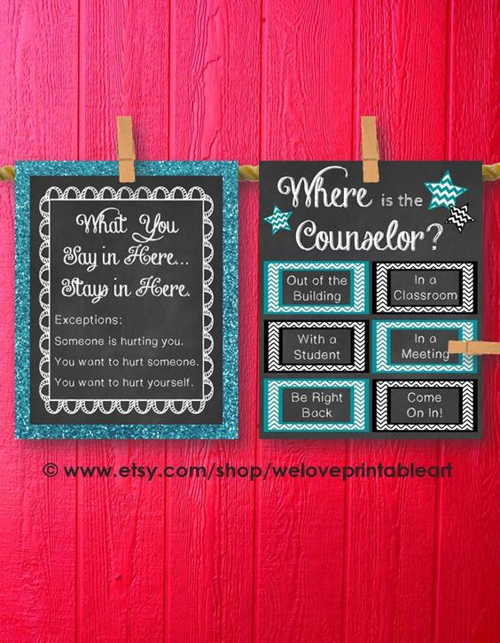 School Counselor Gifts, Where is the Counselor, Office ...