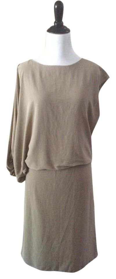 Lanvin Taupe Asymmetrical Cotton And Silk Sz 38 Eu/8 Us $1350 Dress. Free shipping and guaranteed authenticity on Lanvin Taupe Asymmetrical Cotton And Silk Sz 38 Eu/8 Us $1350 Dress at Tradesy. Market price $ 637 LANVIN Asymmetrical  Cotton an...