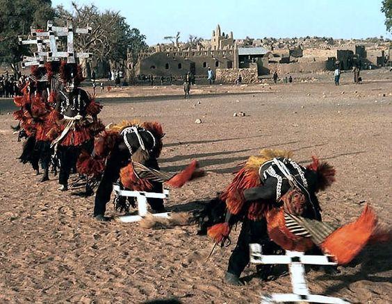 Dogon Kanaga Dancers:
