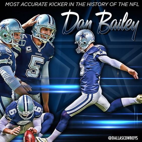 Congrats to Dan Bailey, who is now the most accurate kicker in NFL history! #DallasCowboys