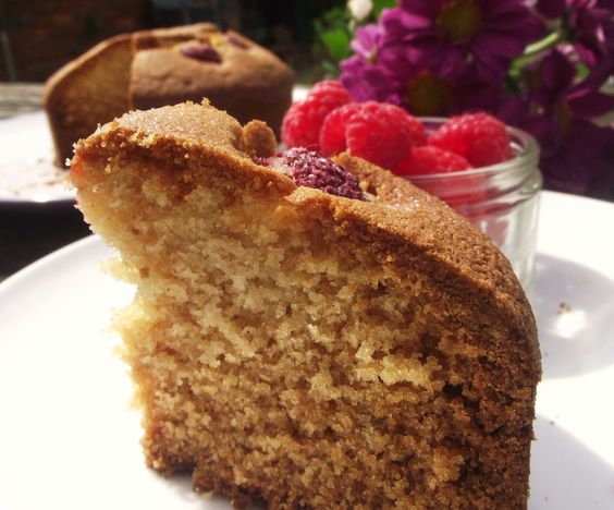 Muscat and Raspberry Cake for #SundaySupper