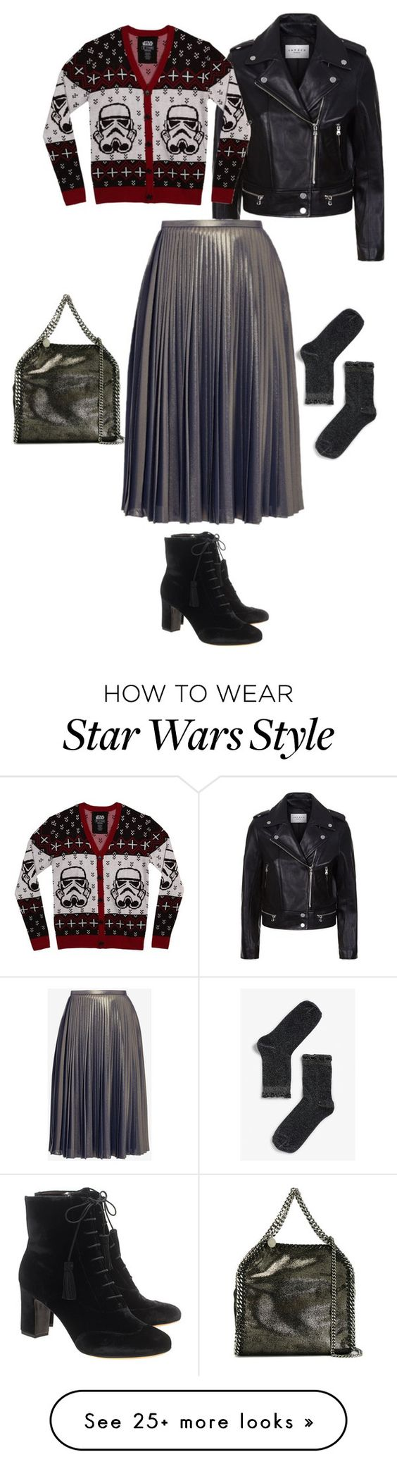 """Ugly Christmas Sweater: print, black, and gray"" by monicaisabel on Polyvore featuring STELLA McCARTNEY, Sandro, Mighty Fine, Ted Baker, Monki and Tabitha Simmons"
