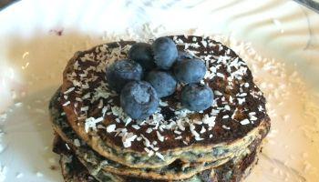 Paleo   Blueberry Coconut Pancakes