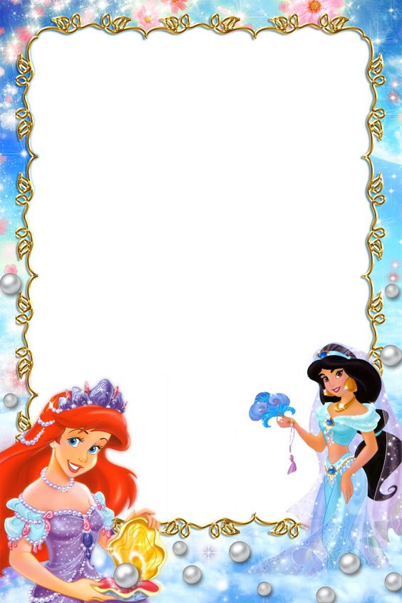 Princess Border Frames Pictures Disney Printables Borders Photo Pinterest