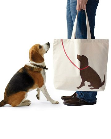Tote with your pet's silhouette...@Edna Rodriguez...thought of you :)