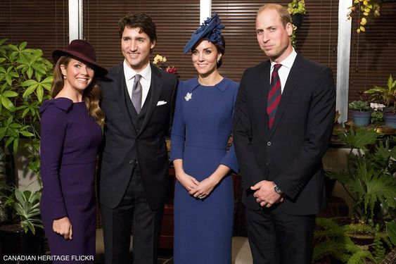 William and Kate Cambridge with Justin & Sophie Trudeau: