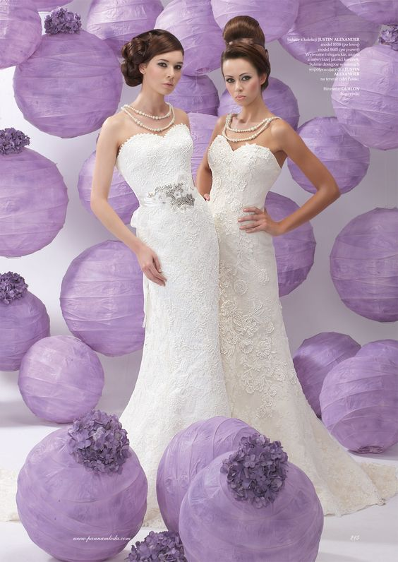 Thanks to Panna Mloda for featuring Justin Alexander styles 8558 (left) and 8605 (right) in the Issue 1 of 2012!  http://www.justinalexanderbridal.com/jar/8558  http://www.justinalexanderbridal.com/jar/8605