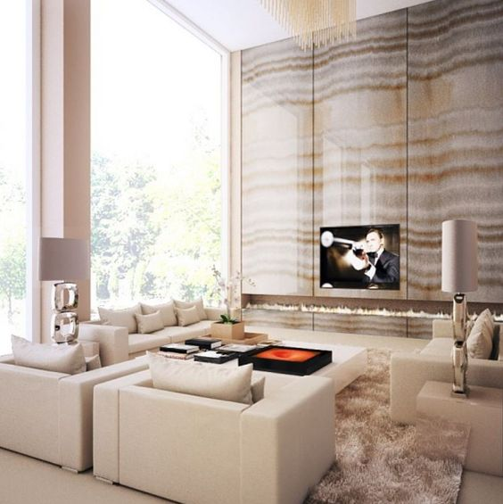 Amazing Veining On #fireplace Wall. Who Needs A T.V