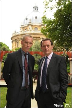 Inspector Lewis.  Beautiful Oxford scenery & relaxing music.  Oh, and a good story too!
