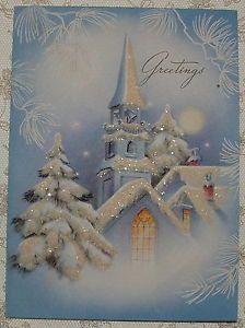 Vintage Christmas Card 1940