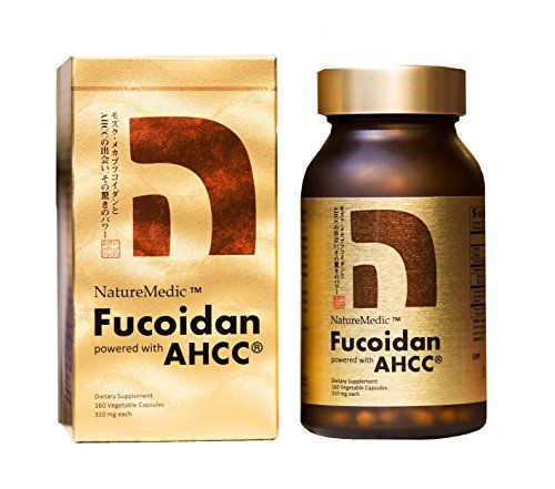 Optimized World's Best Fucoidan with AHCC - Made in Japan under High Quality Control. 160 vegetable capsules. >>> Continue to the product at the image link.