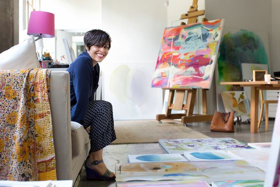 Michelle Armas in her studio