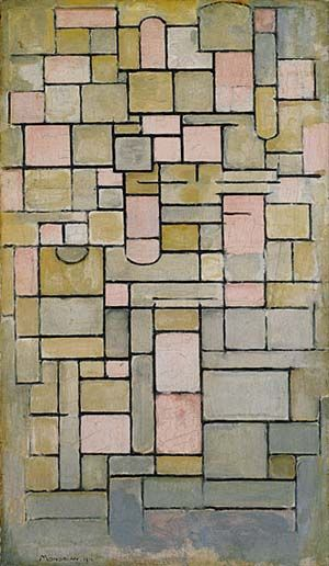 Composition 8, 1914 by Piet Mondrian, The Guggenheim Museum, NYC.