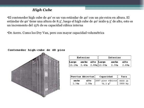 Schiffscontainer Größe medidas contenedor de 40 pies buscar con