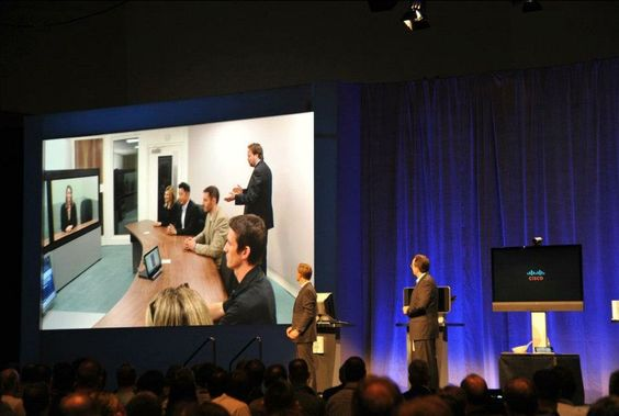 TelePresence demo with OJ Winge and Snorre Kjesbu during Marthin de Beer's Collaboration and Video Solutions Keynote