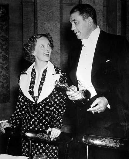 "1936 Oscars: Bette Davis, Best Actress for ""Dangerous"" (1935) and Victor McLaglen, Best Actor for ""The Informer"":"