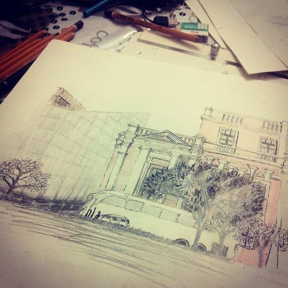 Praça da Liberdade - BH #drawing #desing #desenho #architecture #arquitetura #croqui #BeloHorizonte #MinasGerais