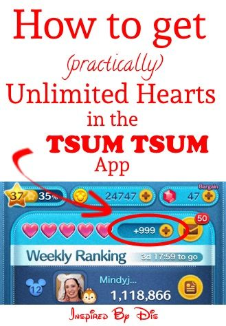 How to Get (Practically) Unlimited Hearts in Tsum Tsum App