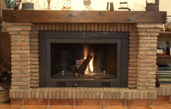 Chimenea r stica de ladrillo chimeneas pinterest - Ver chimeneas rusticas ...