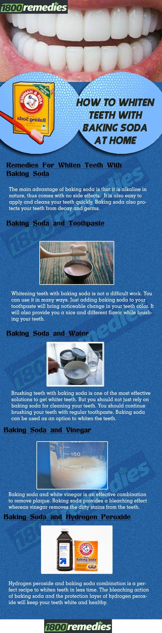 Whitening teeth with baking soda is not a difficult work. You can use it in many ways. Just adding baking soda to your toothpaste will bring noticeable change in your teeth color. It will also provide you a nice and different flavor while brushing your teeth.
